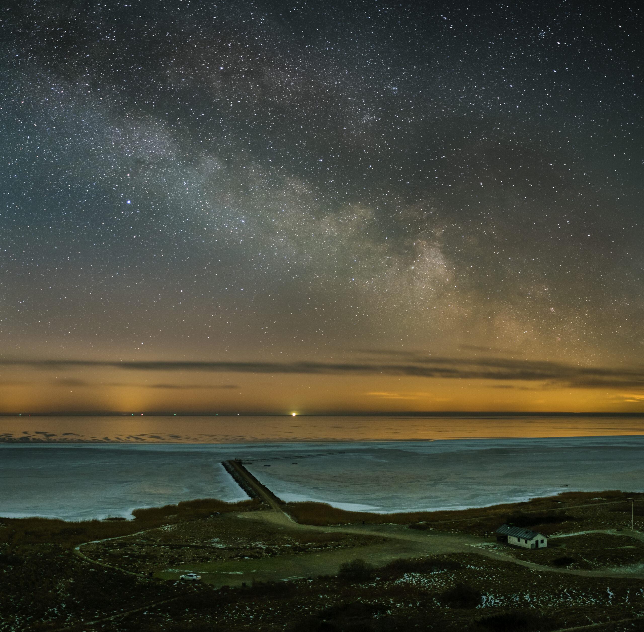 Milky Way on a frosty night