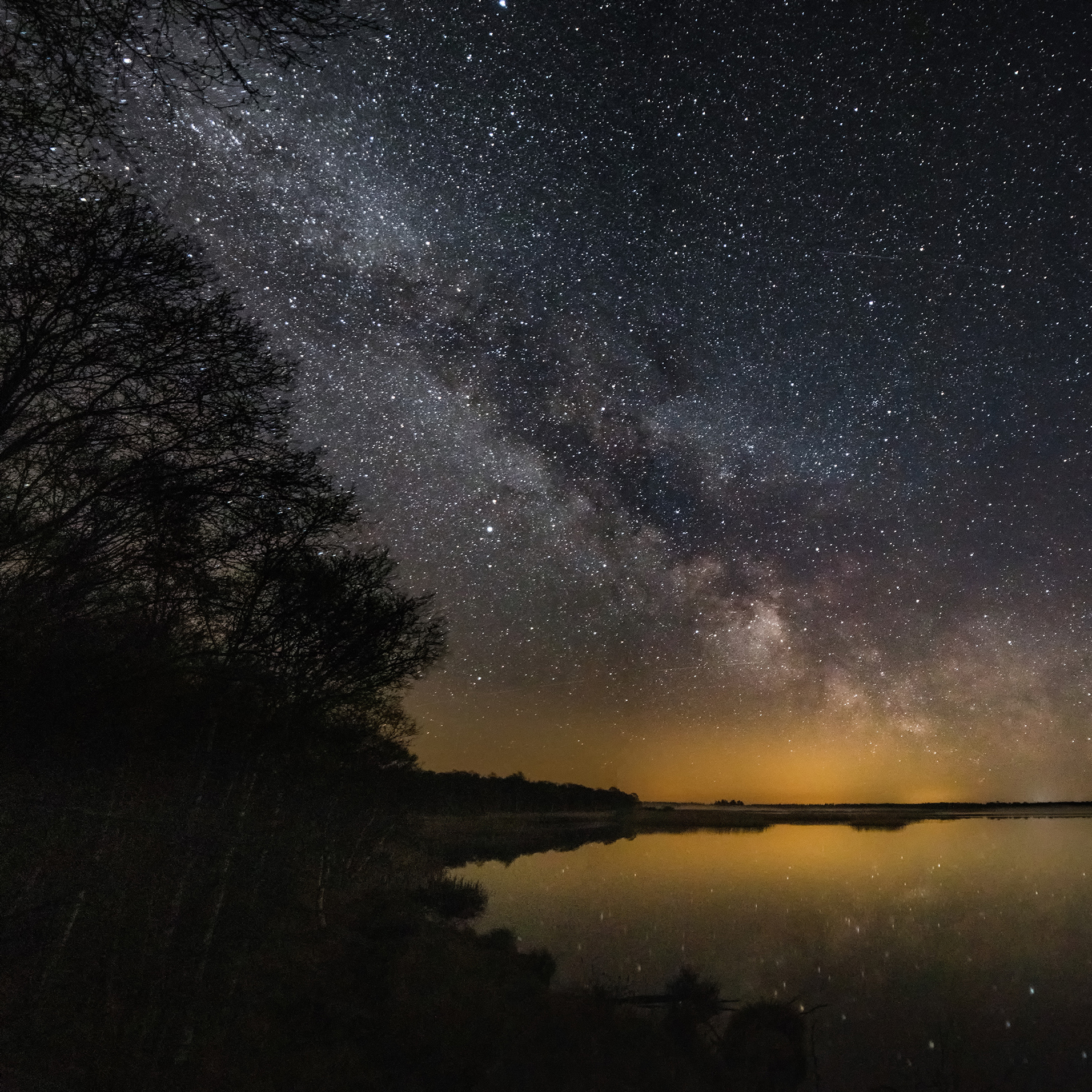 Milky Way by Lake